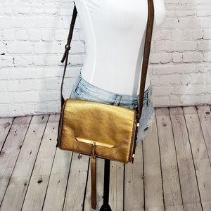 B Brian Atwood metallic brigitte CROSSBODY bag